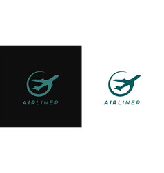 airliner logo icon vector image