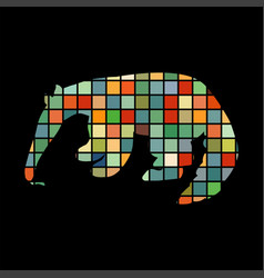Anteater mammal color silhouette animal vector