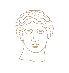 antique statue head vector image