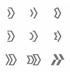 arrow icon set next sign vector image