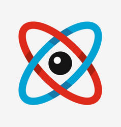 atom icon science symbol vector image