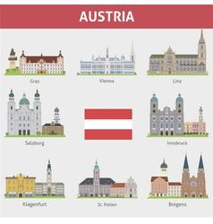 Austria set vector image