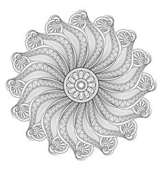beautiful deco monochrome contour mandala vector image