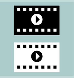 Black and white cinematographic ribbon icon vector