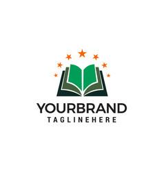 book star logo design concept template vector image