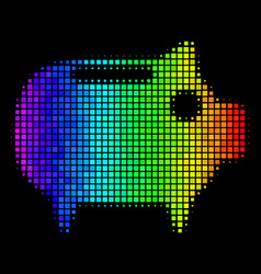 Bright dot piggy bank icon vector