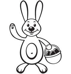 Bunny with basket vector