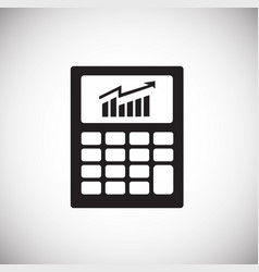 business calculator on white background vector image