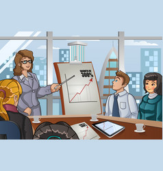business people in a meeting vector image