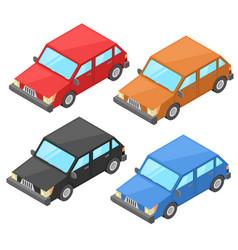 cars retro styled isometric vector image