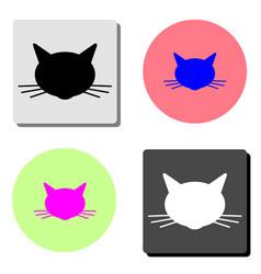 cat head flat icon vector image