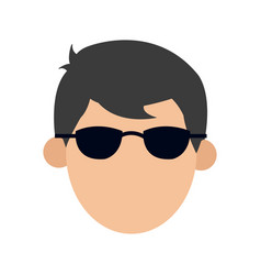 character man male glasses image vector image
