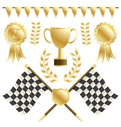Chequered flags vector