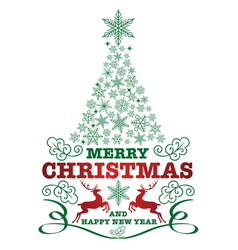 christmas badge vector image