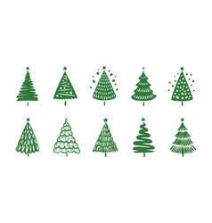 christmas tree symbol holiday concept vector image