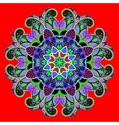 Circle decorative spiritual indian symbol lotus vector