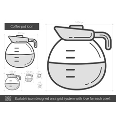 Coffee pot line icon vector image