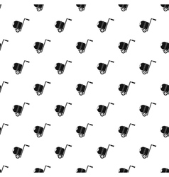 Concrete mixer pattern simple style vector image