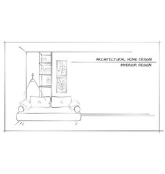 Contemporary interior design vector