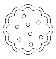 Cookies icon outline style vector