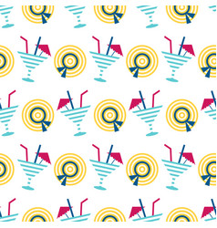 cute summer beach seamless pattern vector image