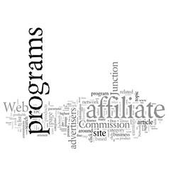 Design web site around affiliate programs vector