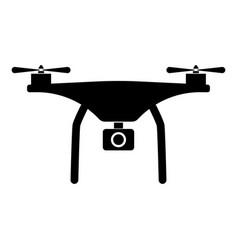 drone the black color icon vector image