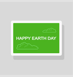 earth day greeting card minimalist style vector image