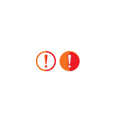 exclamation mark alert icon logo vector image