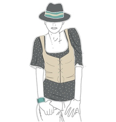 Figure people print fashion clothing design vector