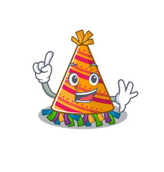 Finger party hat in a above mascot vector