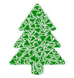 fir-tree mosaic of triangles vector image