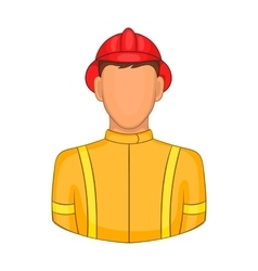 Firemen icon in cartoon style vector image