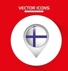 Flag icon design vector