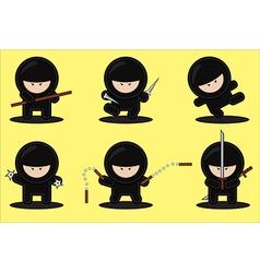 Gang ninjas vector