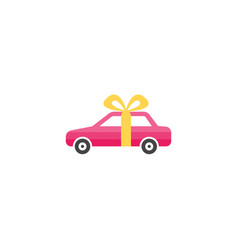 gift car icon in flat style isolated on white vector image