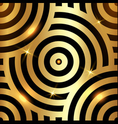 gold luxury intersecting repeating circles texture vector image