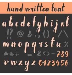 HandWrittenFont vector image