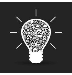 House a bulb vector