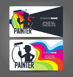 House painter business card concept vector
