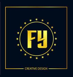 Initial fy letter logo template design vector