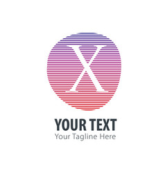 initial letter x abstract line logo style vector image