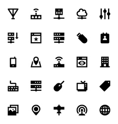 Internet Networking and Communication Icons 2 vector image