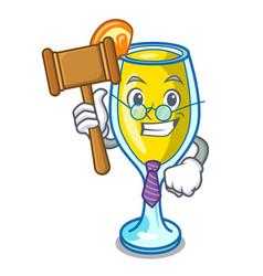 Judge mimosa mascot cartoon style vector