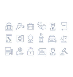 law protection icon lawyer justice legal vector image
