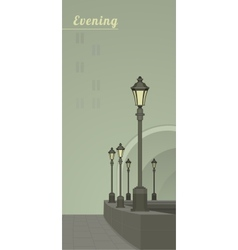 lights in the faithful city vector image