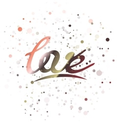 Love lettering word vector