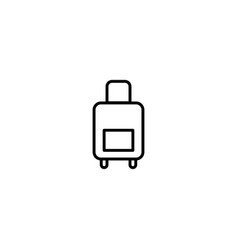luggage suitcase icon vector image