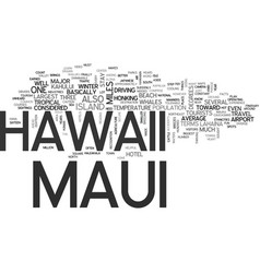 Maui hawaii text background word cloud concept vector