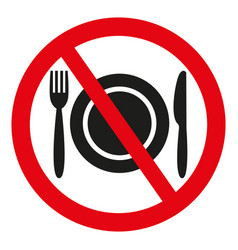 no food sign on white background vector image